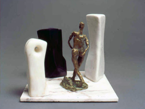Bronze and marble sculpture by Aaron Poovey.