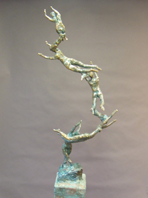 Welded bronze scultpure by Aaron Poovey.