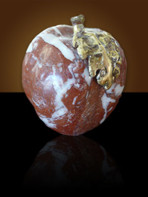 Marble apple by Aaron Poovey.